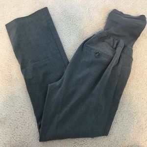 Grey maternity pants